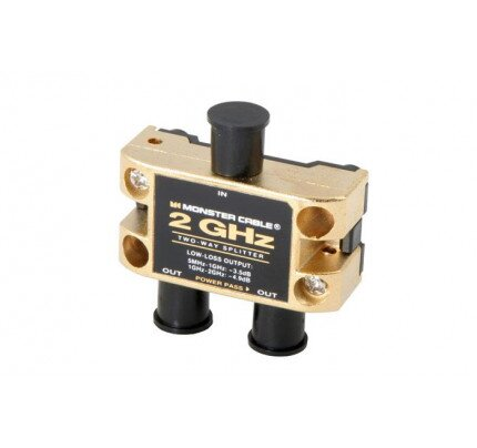 Monster Two GHz Low-Loss RF Splitters for TV and Satellite MKII