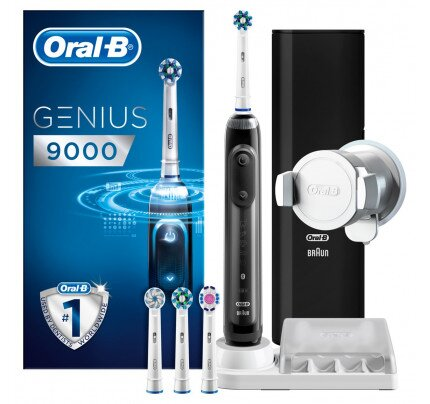 Oral-B Genius 9000 Black Cross Action Electric Toothbrush Rechargeable