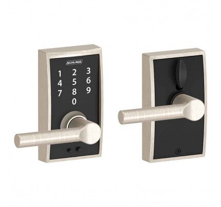 Schlage Touch Keyless Touchscreen Lever with Century Trim and Broadway Lever