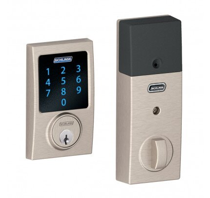 Schlage Connect Touchscreen Deadbolt with Alarm with Century Trim