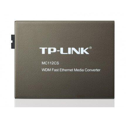 TP-Link WDM Fast Ethernet Media Converter - MC112CS