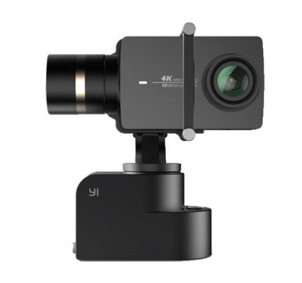YI 4K Action Camera With Handheld Gimbal + Selfie Stick + Bluetooth Remote In Travel Case