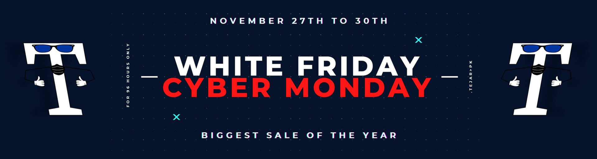 White Friday and Cyber Monday Sale banner